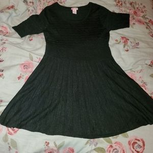 NWOT candies sparkly black dress